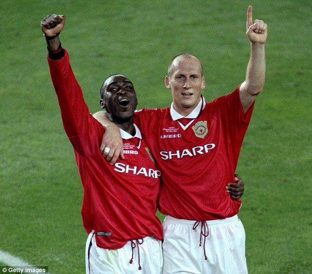 Andy Cole & Jaap Stam