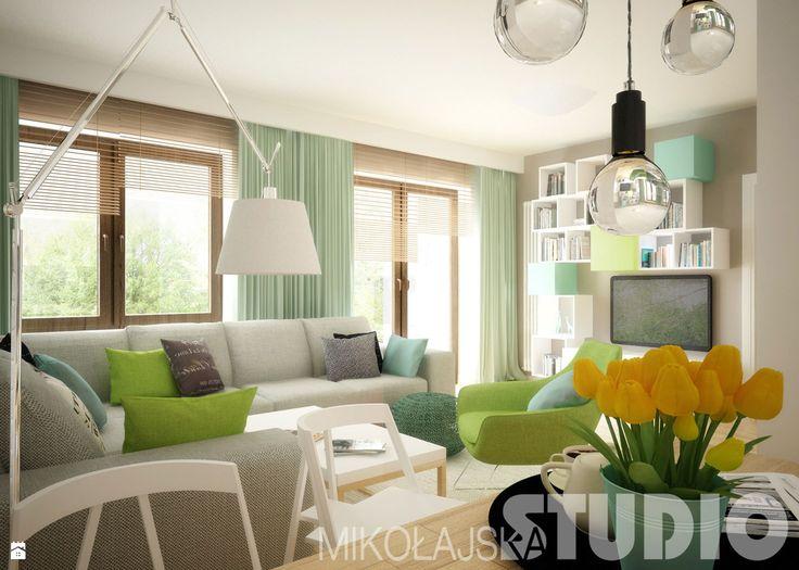 Salon w jasnych koplorach - zdjęcie od MIKOŁAJSKAstudio
