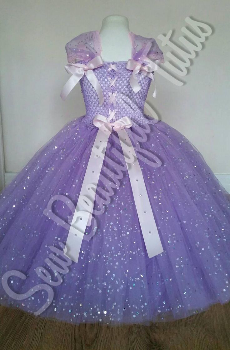 Rapunzel Sparkle Ball Gown Girl tutu dress  Fun Party Outfit
