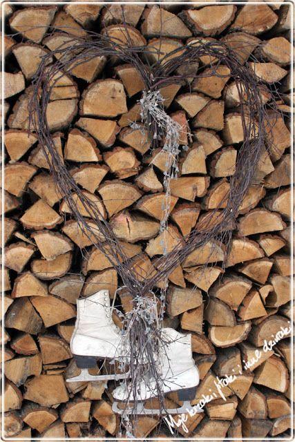 winter wreath, winter heart