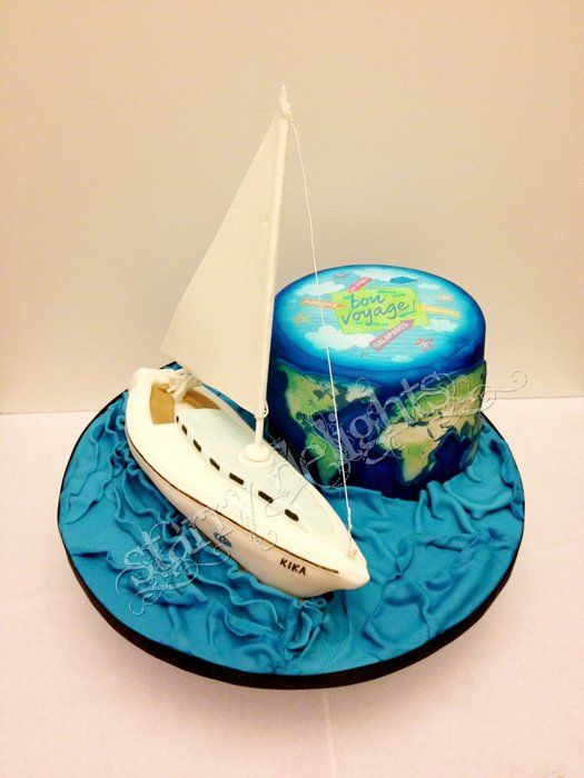 Cake Decorating Ideas Bon Voyage : The 476 best images about Ship, Pirate and Fishingboat ...
