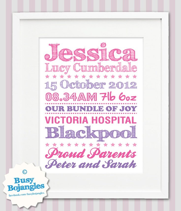 14 best Birth Announcement Ideas images – Personalised Birth Announcements