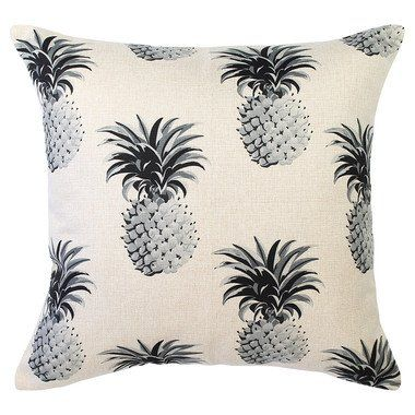 Indoor Cushion Cover - Mono Pineapples