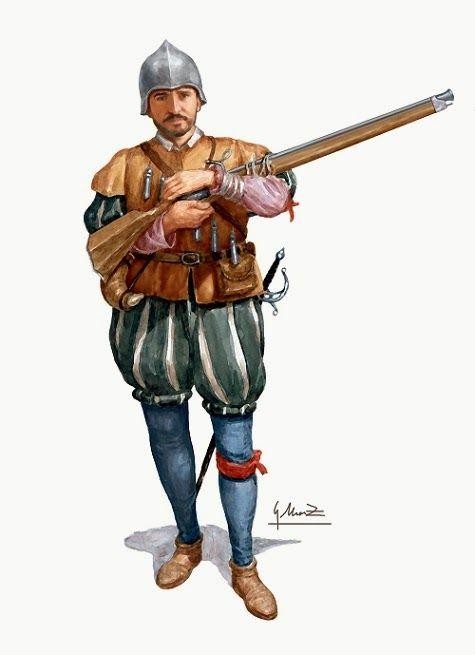 García Moreno, Arcabucero de los Tercios.