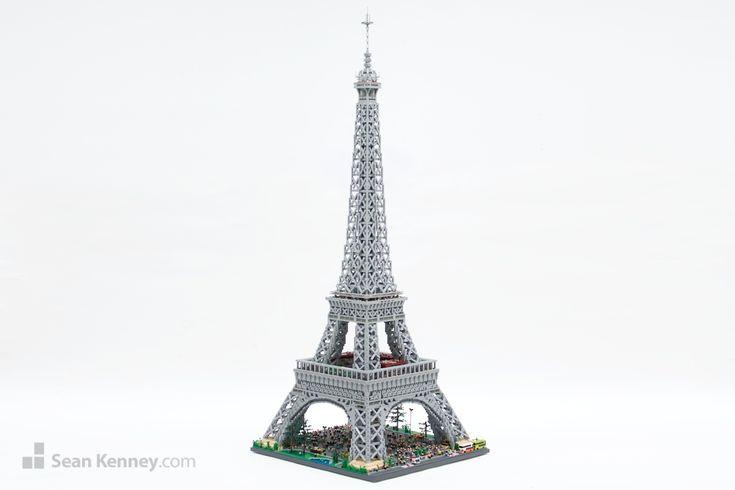 Sean Kenney's LEGO Eiffel Tower. Over 7 feet high!