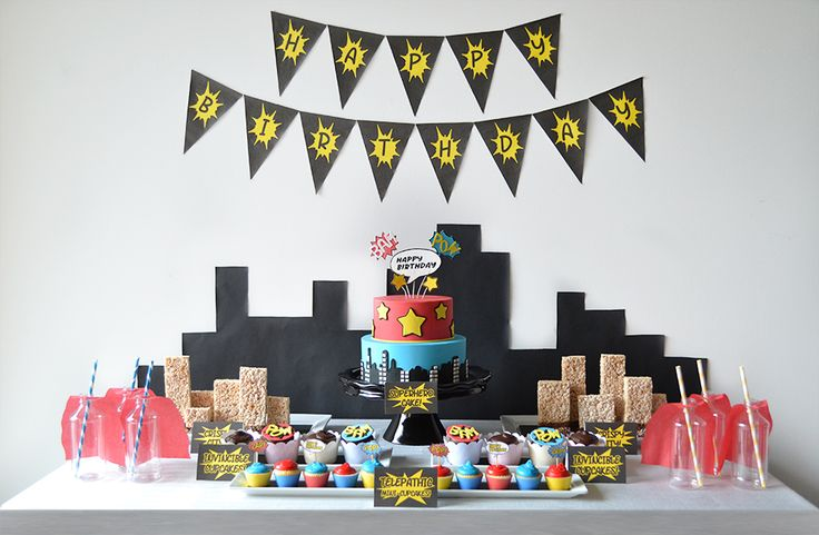 The Superhero Experience Dessert Table By Sweet Society
