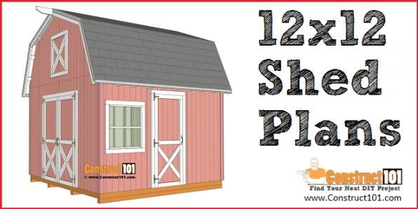 12x12 Barn Shed Plans Free Pdf Download Material List And Drawings Diy Projects At Construct101 Shedplans In 2020 Shed Plans Diy Shed Plans Barns Sheds