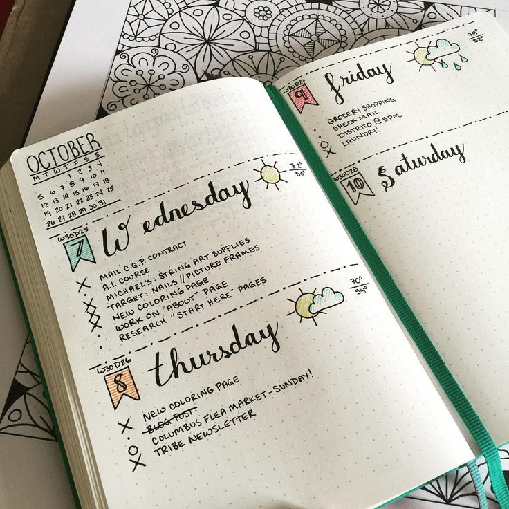 When I start my own bullet journal, I want it to be artistic like this!
