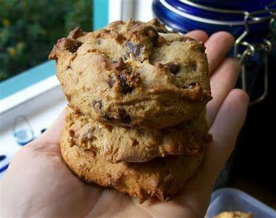 Almond Butter Choc Chip Cookies - from Quirky Cooking TM