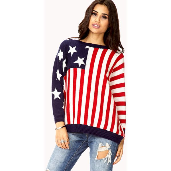 FOREVER 21 Americana Dolman Sweater $25