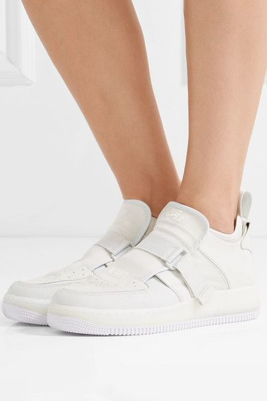 promo code 849c3 4631e Nike - The 1 s Reimagined Air Force 1 Explorer Xx Suede And Leather  Sneakers - Off-white