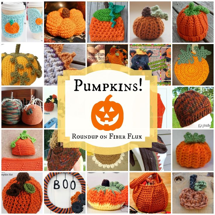 Pumpkins! Roundup on Fiber Flux of 25 free crochet patterns