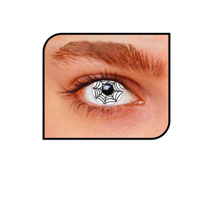 Découvrez toute notre gamme de lentilles fantaisies pour vos déguisements, changez votre regard avec ces lentilles blanches et noires spider toile d'araignée.