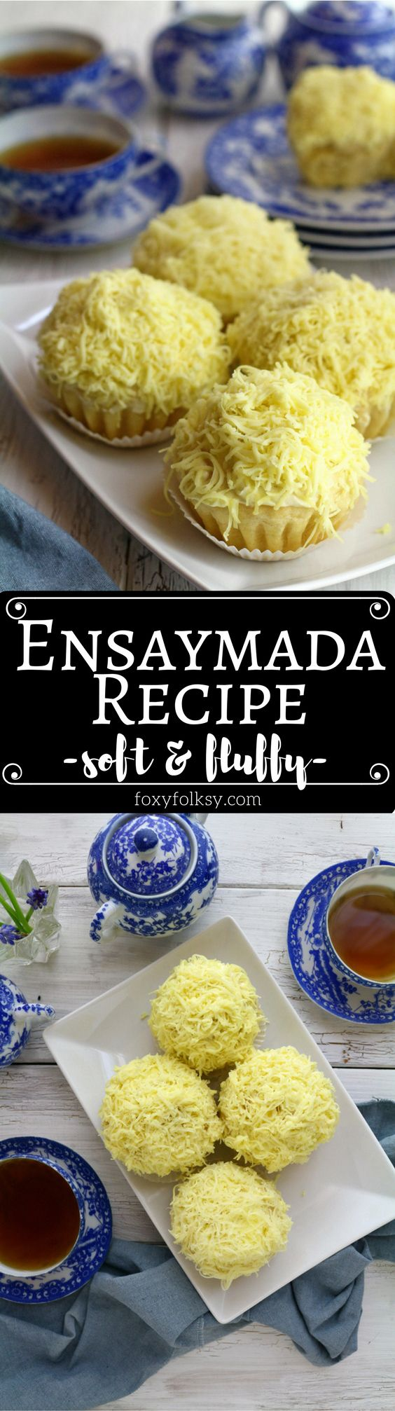 Try this soft and cheesy Ensaymada recipe. | www.foxyfolksy.com #filipinofood #asianfood #ensaymada #bread #pastry #sweet