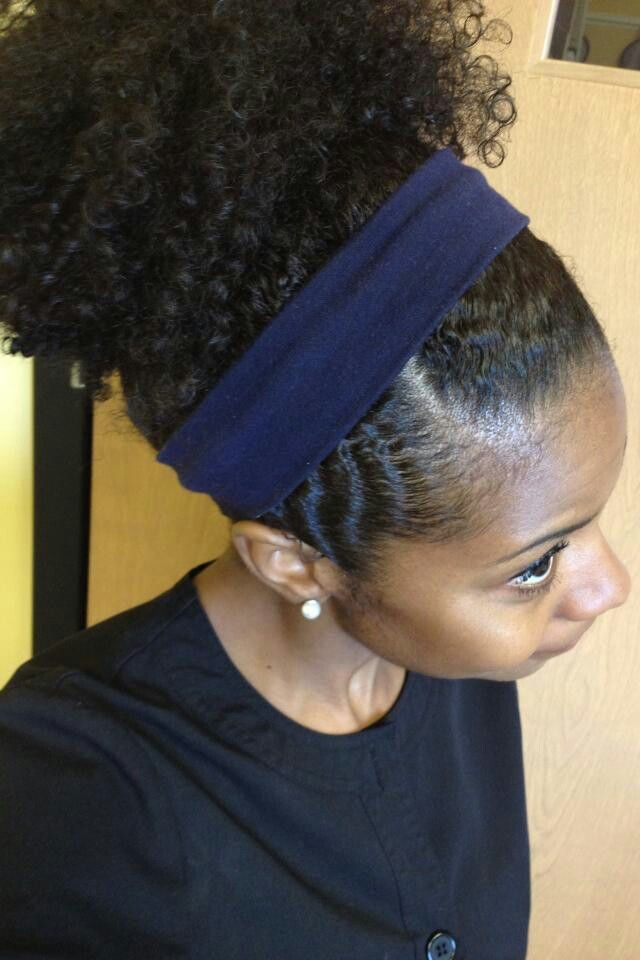 """My signature """"Don't feel like twisting my hair"""" style (heck yeah it is) http://www.shorthaircutsforblackwomen.com/natural-hair-style_pictures/"""