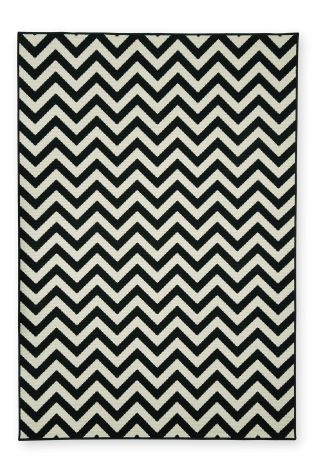 Can't wait to mix different colours and textures with the classic black and white chevron