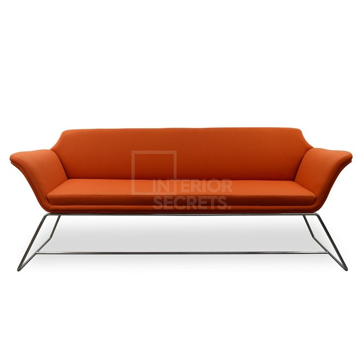 $950  kuno-3-seater-sofa - orange
