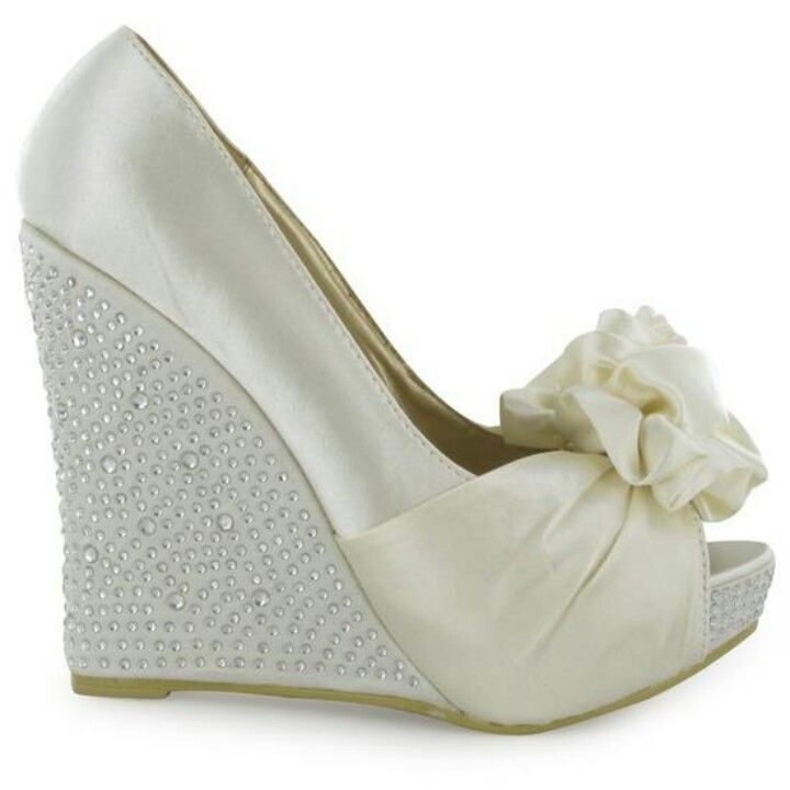 find this pin and more on wedding shoes ivory wedge