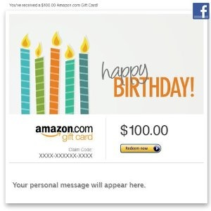 16 best birthday images on pinterest amazon warriors amazons amazon gift card facebook happy birthday candles order at http negle Images