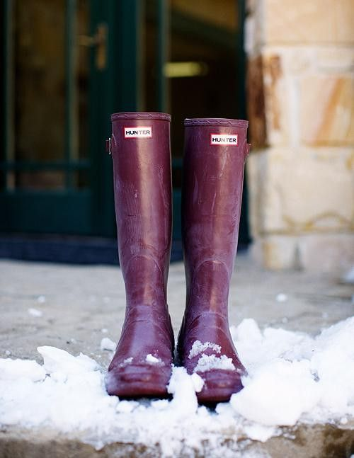 Plum Hunter Boots