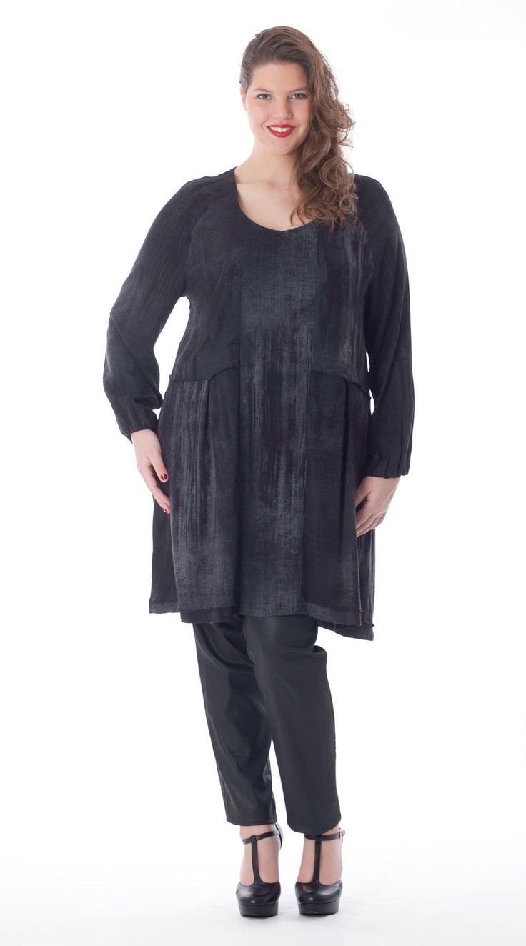 Exelle | curvy fashion | fashionable tunic with elastic in the armhole