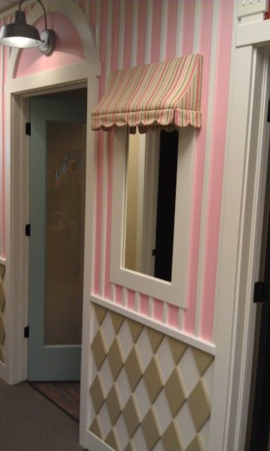 Beautiful little girls room, using a mirror to look like a window :) x