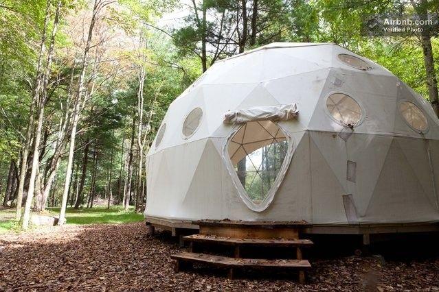 Geodesic Dome in the Catskills in Woodridge