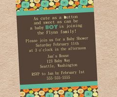cute as a button baby shower invitation diy by