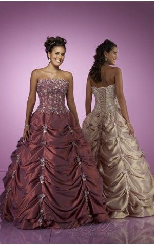 Champagne Ball Gown Strapless Bandage Floor Length Quinceanera Dresses With Beading and Embroidery and Twist Draped