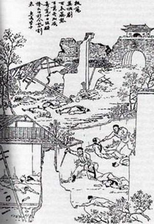 Yangzhou_massacre.jpg (301×439)  The massacres at Yangzhou in 1645 accompanied the change from Qing dynasty to Ming dynasty. The slaughter was around 800,000 and lasted 10 days.