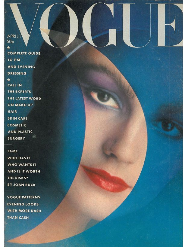 Barbara Daly make-up, model Sue Purdey, editor Beatrix Miller, photographed by David Bailey
