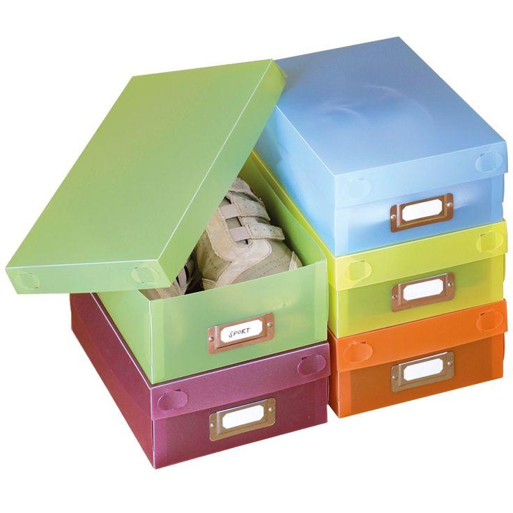 schoenen opbergdozen  Description: Weet u niet meer waar u uw schoenen moet laten? Deze decoratieve opbergdozen in vrolijke kleuren bieden uitkomst. De kleurrijke dozen houden uw schoenen stofvrij. Bespaar ruimte. Geschikt voor schoenen tot en met maat 40. Met labels zodat u makkelijk het juiste paar kunt vinden. Kan na gebruik op worden gevouwen om ruimte te besparen. U ontvangt maar liefst 5 stuks. In de kleuren blauw oranje geel groen en voilet.Afmetingen: 30 x 185 x 95 cm. Materiaal…