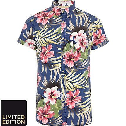 men's hawaiian shirt - river island