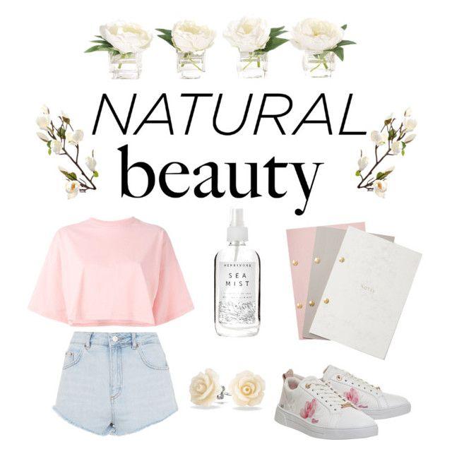 Minimalist beauty by kathrinesavchuk on Polyvore featuring polyvore beauty Herbivore Bling Jewelry Puma Topshop Ted Baker StudioSarah NDI #minimalistbeauty #fashion #look