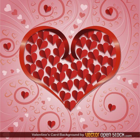Valentine S Card Background Background Heart Love Pattern