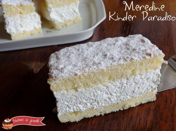 Merendine Kinder Paradiso, ricetta torta paradiso farcita