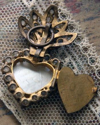 Antique heart locket.  Photo by Corey Amaro.