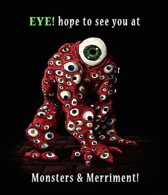 MONSTERS & MERRIMENT Halloween and Horror Art Show  September 26, 2015 See you all there! (art by Ethan Black)