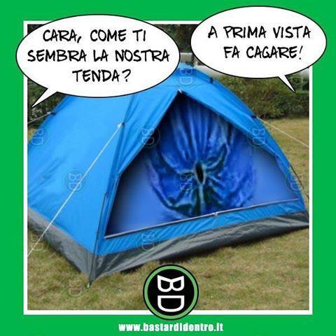 La #tenda più stitica del campeggio. #bastardidentro www.bastardidentro.it