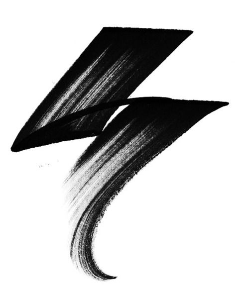 strike. stroke.Tattoo Ideas, Chine Calligraphy, Frank Esoteric, Lightning Bolt, Lightning Tattoo, Abstract Art, Graphics Design, Artsy Fartsy, A Tattoo