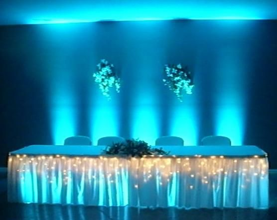 diy wedding reception lighting. Fabulous Teal Uplighting At This Wedding Reception Diy Diywedding Lighting C