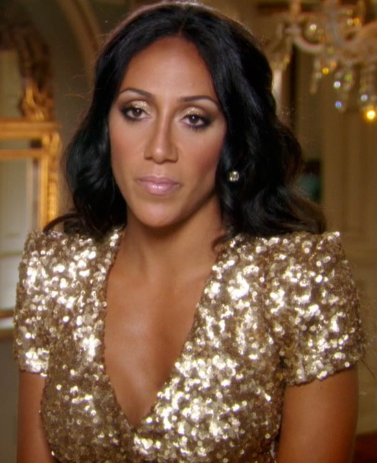 Real Housewives of New Jersey Melissa Gorga Gold Sequinned Top