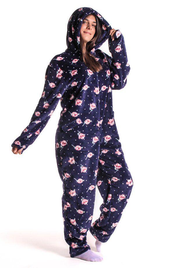 niño calidad autentica descuento en venta Pijamas Enteros- Sleeper Blue Roses | Enterizo | Pijama ...