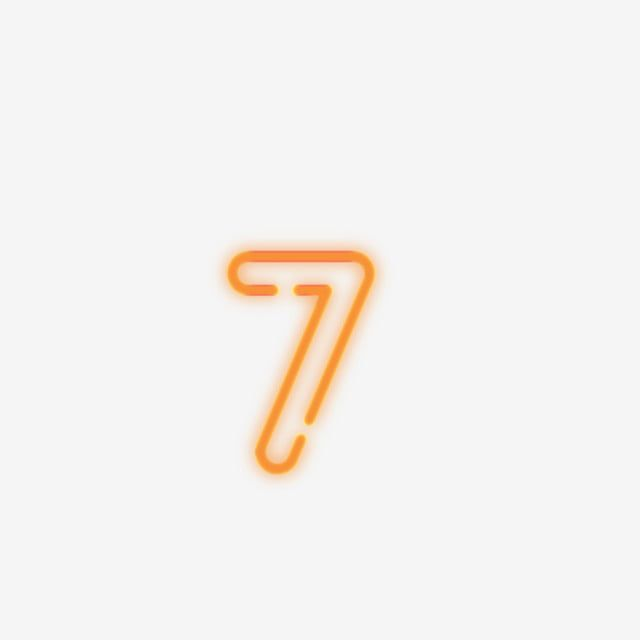 Commercial Neon Number 7 Digital Creative Lovely Png Transparent Image And Clipart For Free Download Neon Number Neon Neon Png