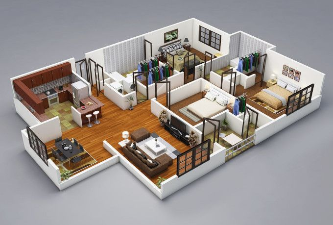 Floorplan I Will Model Your Floorplan 3d Model Sketchup Fastest In 3 Hours Cool House Designs Inexpensive House Plans Architect Design