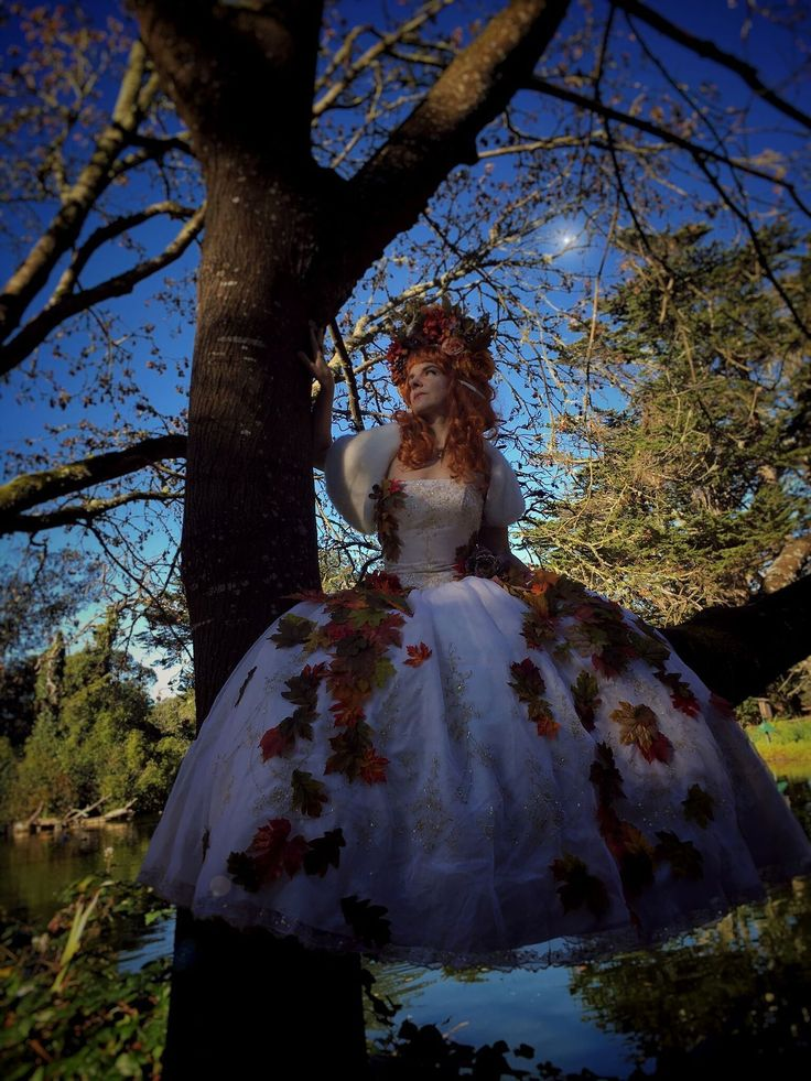 followthetreesblog:    Autumn Faerie  Costume by Chris Young-Ginzburg (refurbished dress and flower crown)  Photo by Erick Hoffman  Dec. 2017 San Francisco CA