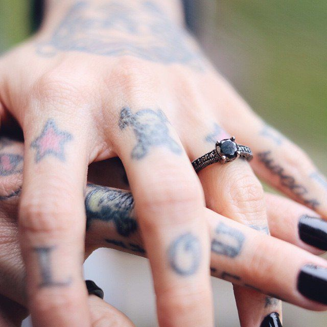 Pin for Later: 44 Real-Girl Engagement Rings So Unique Everyone Will Be in Awe Gothic Chic