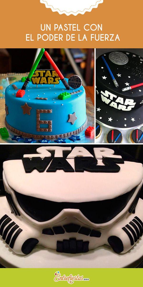 """La popular película Star Wars ha sido escogida en numerosas ocasiones para ser el tema de cumpleaños y reuniones, por esto se han creado muchos estilos para recrearla. A continuación te mostramos las mejores opciones para un pastel digno de la """"Fuerza""""."""