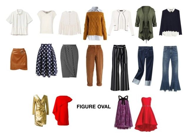 """""""Figure Oval"""" by elufimova-elena on Polyvore featuring мода, Chicwish, Sans Souci, Miss Selfridge, Miu Miu, Taylor, Citizens of Humanity, Ted Baker, Lacoste и Banana Republic"""