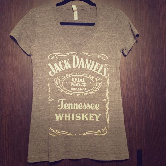 Jack Daniels tshirt Super cute! Just too small :( no flaws. Open to offers. No trades. Tops Tees - Short Sleeve